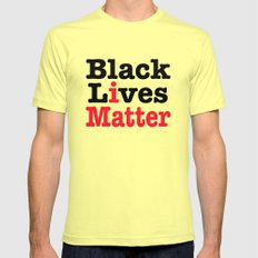 BLACK LIVES MATTER Lemon Mens Fitted Tee MEDIUM