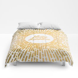 Hello Sunshine Gold Comforters