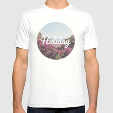 Holiday MEDIUM Mens Fitted Tee White