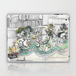 sketch_temple Laptop & iPad Skin