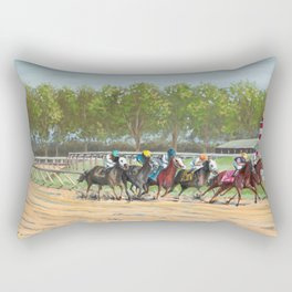 Stay In The Race Rectangular Pillow