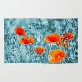 Red Poppy/ Roter Mohn Rug