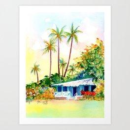 Hawaiian Vacation Cottage Art Print