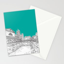 City Of Bath (Teal Version) Stationery Cards