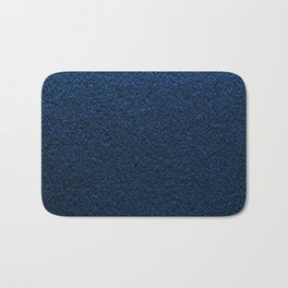 Dark Blue Fleecy Material Texture Bath Mat