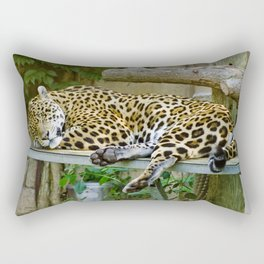 Sleepy Leopard At The Toronto Zoo Rectangular Pillow