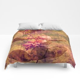 White rose Pearls in Autumn Nature Art Comforters