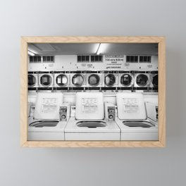 Fresno Laundromat Framed Mini Art Print