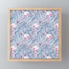 Aloha Flamingo Pattern Framed Mini Art Print