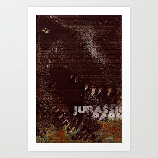 Jurrasic Park Art Print