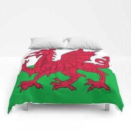 Flag of Wales,uk,great britain,dragon,cymru, welsh,celtic,cymry,cardiff,new port Comforters