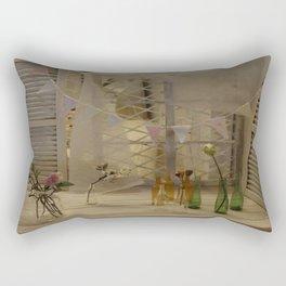 Syringa and bottles in miniature Rectangular Pillow