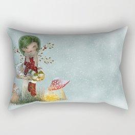 Winter Green Rectangular Pillow