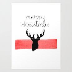 Christmas time - Deer edition Art Print