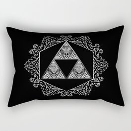Triforce Aztec White Pattern Rectangular Pillow