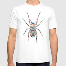 SPIDER SILHOUETTE WITH PATTERN MEDIUM Mens Fitted Tee White