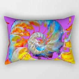 PANTENE ULTRA VIOLET PURPLE  NAUTILUS SHELL ART Rectangular Pillow