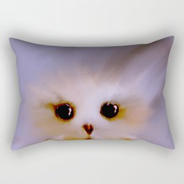 Owl Painting on Windy Day Rectangular Pillow