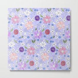 Garden Bounty in Lavender Metal Print