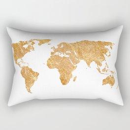Gold World Rectangular Pillow