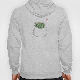 Succulent in Plump White Planter Hoody