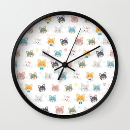 Cat passion Wall Clock