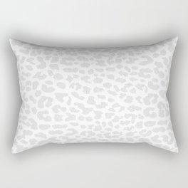 Pale Gray Leopard Rectangular Pillow