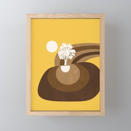 Modern shapes 7 Framed Mini Art Print