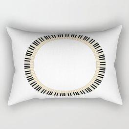 Pianom Keys Circle Rectangular Pillow