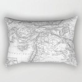 Vintage Map of Turkey (1850) BW Rectangular Pillow
