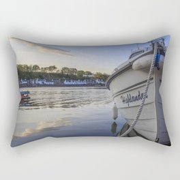 Highlander in the Harbor Rectangular Pillow