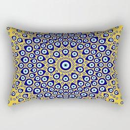 Nazar - Turkish Eye Circular Ornament #3 Rectangular Pillow