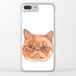 Betty aka The Snappy Cat- artist Ellie Hoult Clear iPhone Case