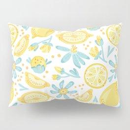 Lemon pattern White Pillow Sham