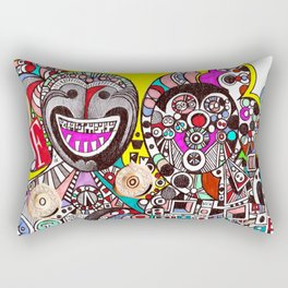 Invasion of Trolls (abstract fantasy drawing) Rectangular Pillow
