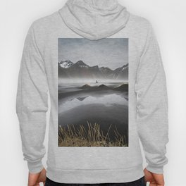 """""""Excite"""" - A Moody Morning (Vestrahorn, Iceland) Hoody"""