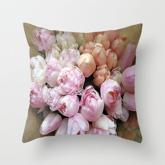 Tulips from Amsterdam Throw Pillow
