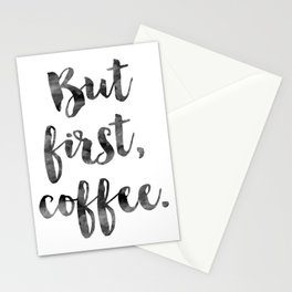 But First Coffee Print, Funny, But First Coffee Art Print, Coffee Typography Print, Coffee Quotes Stationery Cards
