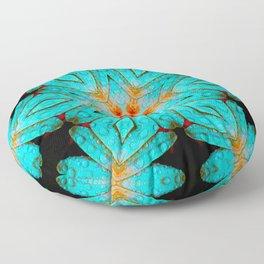 star flower mandala  Floor Pillow