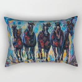 Roaming Free by OLenaArt/ Lena Owens Rectangular Pillow