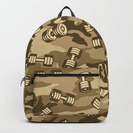 Dumbbell Gym Camo DESERT Backpack