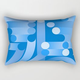 Totally Tubular in Blue Rectangular Pillow