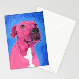 Pink Pitbull Stationery Cards