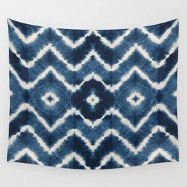 Shibori, tie dye, chevron print Wall Tapestry