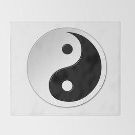 Yin Yang Symbol Throw Blanket