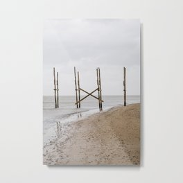 Photo of the old boat dock to Vlieland, on the beach of the Dutch Wadden Island Texel, in the world heritage of the Waddensea | Fine Art Travel Photography | Metal Print