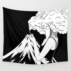 Head in the Clouds Wall Tapestry