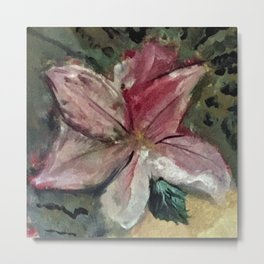 Goddess Rhea's pink flower painting Metal Print