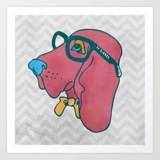 Rufus the Intelligent Geek Hound Art Print