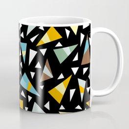 Triangle Party Pattern Dark Coffee Mug